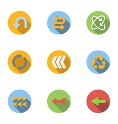 Pointer icons set flat style vector