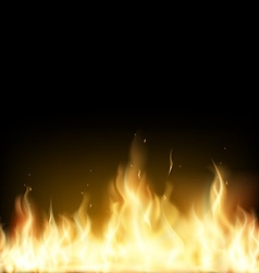 Red fire stock vector