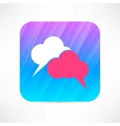 speech cloud icon vector image vector image