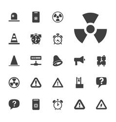 22 alert icons vector