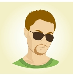 a man with glasses vector image