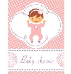 Baby girl card vector