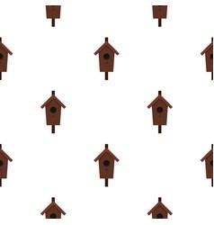 Birdhouse pattern flat vector