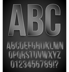 Black alphabet vector image