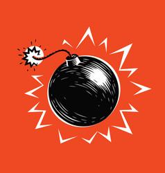 Bomb blast explosion explode symbol vector