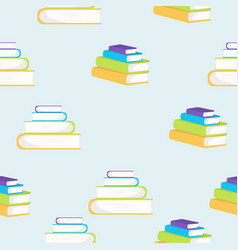 books flat style pattern vector image