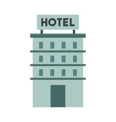 building construction hotel isolated icon vector image
