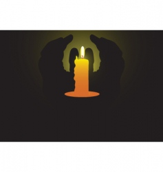 candle light vector image