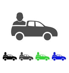 Car passenger flat icon vector