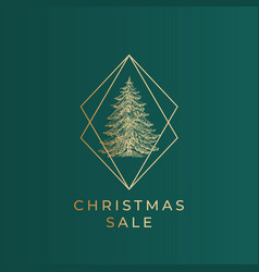 christmas sale greetings banner template vector image