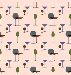 cocktail party background in retro style dish vector image