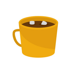 coffee marshmallow icon flat style vector image