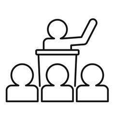 Conference lesson icon outline style vector