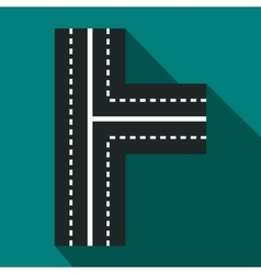 Crossroads icon in flat style vector