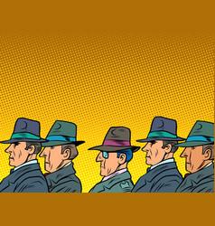 crowd businessmen or a delegation officials vector image