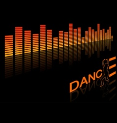 dance equalizer vector image