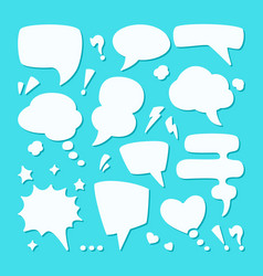dialogue speech bubble set symbol conversational vector image