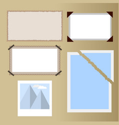 different types of photos old paper old photo vector image