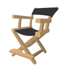 Director chair cartoon icon vector