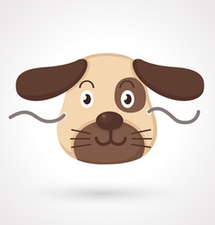 Dog mask vector