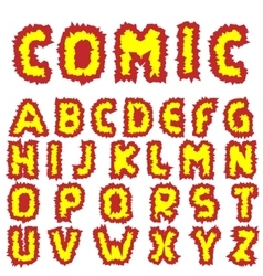 Effective Comic alphabet vector image