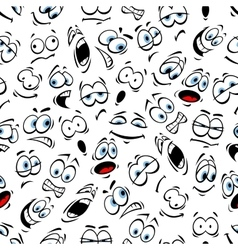 emoticons pattern human face emotions vector image