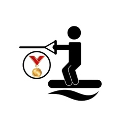 extreme sport avatar kiteboarded vector image