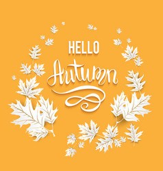 Fall leaves card vector