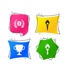 first place award cup icons prize for winner vector image