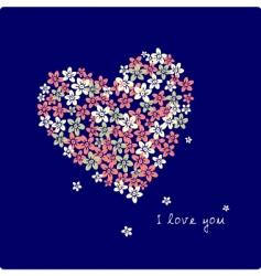 flower heart vector image vector image