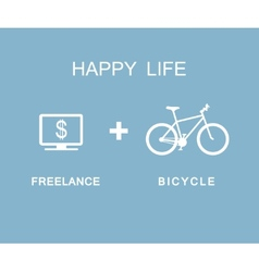 Freelance and Bicycle infographic vector image