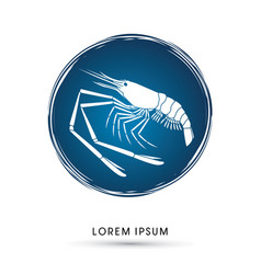 giant freshwater prawn shrimp vector image