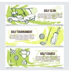 Golf banners or website header set vector image