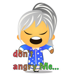 grandma is angry on white background vector image