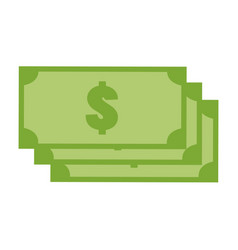 green money icon on white background money icon vector image