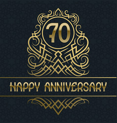 happy anniversary greeting card template for vector image