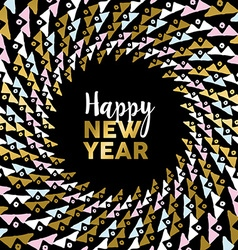 Happy new year gold mandala tribal art card design vector