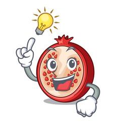Have an idea cartoon fresh pomegranate and its vector