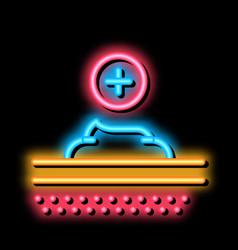 Healthcare cream neon glow icon vector
