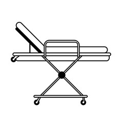Hospital bed or gurney healthcare related icon vector