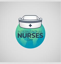 International nurses day logo icon design vector