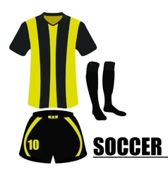 Isolated soccer uniform vector image