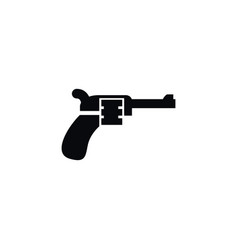 isolated weapon icon revolver element can vector image