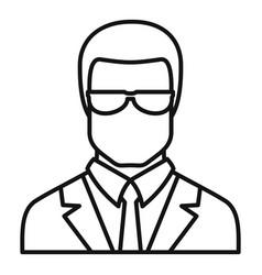 Jurist avatar icon outline style vector
