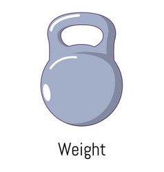 kettlebell icon cartoon style vector image