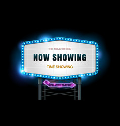 light sign billboard cinema resource vector image