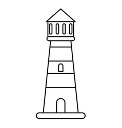 Lighthouse guide sea thin line vector