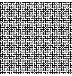 maze seamless black white pattern vector image