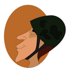 military helmet on white background vector image