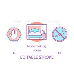 Non-smoking room concept icon vector